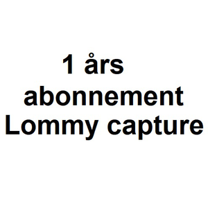1 Års Abonnement - Lommy Capture inkl. SIM