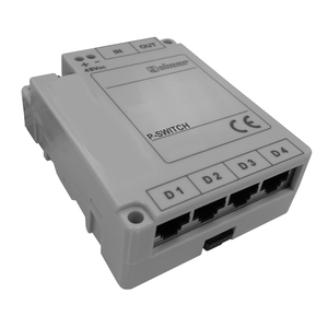 P-Switch - Ethernet switch for seriekobling Iplus systemet